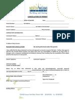 Form - City of North Miami Cancellation of Permit