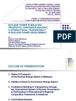 Nuclear Power in Malaysia - Prospects, Confidence Building, International Transparency in Nuclear Power Development 2008