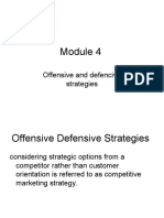 Module 4 offensive and defensive strategies