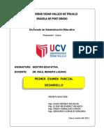 Examen Parcial Doctorado UCV Cusco Grupo UNSAAC
