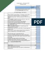 project grade sheet Word