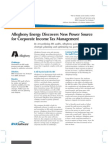 Allegheny Energy Gains Time for Strategic Planning and Optimizing Tax Performance By Streamlining IRS Audits