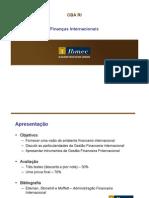 Finanças Internacionais - CBA RI - parte 1