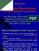 Power Quality Improvements Using Multipulse Converters