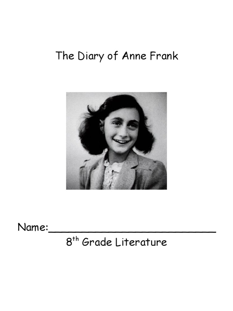 the diary of anne frank packet anne frank