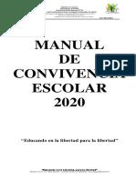 Manual Convivencia2020 Adoptado Sagradocorazon