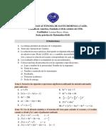 Sexta practica. Matematica 0140 UASD.
