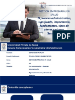 3 El proceso administrativo, significado, importancia, fundamentos, tipos de planes y etapas.