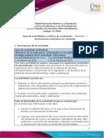 Guía de actividades y rúbrica de evaluación - Unidad 1 - Momento 1 - Sensibilización y reflexión