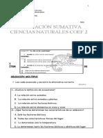 EVALUACION SUMATIVA CIENCIAS NATURALES 4° BASICO (2019)