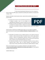 PROCESO DE CONSTRUCCIÓN DE UN TEST