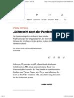 """nCoV - Impfung - 2021-01-14 - Schweinegrippe - """"Sehnsucht nach der Pandemie"""" - DER SPIEGEL 30-2009"""