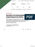 nCoV - Impfung - 2021-01-14 - Schweinegrippe-Impfstoff Pandemrix - Risiken wurden ignoriert - DER SPIEGEL