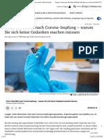 nCoV - Impfung - 2021-01-14 - Zehn Todesfälle nach Corona-Impfung- Patienten waren schwer krank