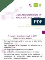 Legislacion Nacional en Seguridad y Salud en El Trabajo