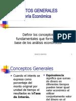CONCEPTOS GENERALES DE INGENIERÍA ECONOMICA