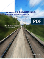 Hs2 Appraisal of sustainability Non Technical Summary