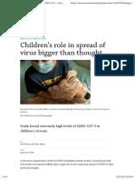nCoV - Med - 2020-08-22 - Pediatrics - Looking at children as the silent spreaders of SARS-CoV-2 – Harvard Gazette
