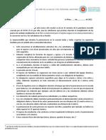Declaración jurada y pautas