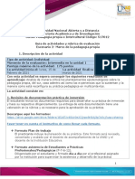 Guía para el desarrollo del componente práctico y rúbrica de evaluación - •Unidad 1 Pedagogía propiacasa adentro Escenario 2 Marco de la pedagogía propia