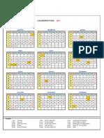 Calendário Português de 2011