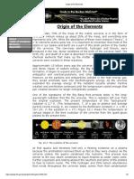 Origin of the Elements