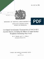 Gregory & O'Reilly - Low-Speed Aerodynamic Characteristics of NACA 0012 Airfoil