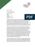 Pacific University response to American Association of University Professors