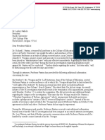 American Association of University Professors letter to Pacific University