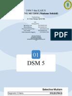 Selective Mutism - F32 UMM