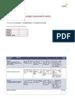 4. Project Assessment Matrix
