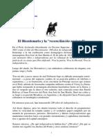 PCP - El Bicentenario y La Reconciliación Nacional