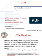GSM Handover, Localisation and Call handling