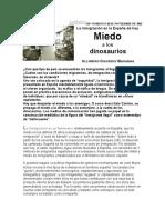 Goldberg Alejandro - La Inmigración en La España de Hoy - Miedo a Los Dinosaurios