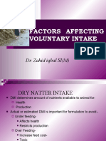 Factors affecting Voluntry intake