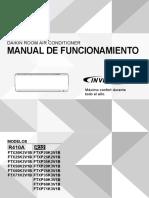 Stylish Ftx20 71k(v),Ftxp20 35kv,Ftxp20 71k3 3pes393186 3w Operation Manual Spanish