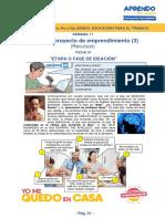 EDUCACION PARA EL TRABAJO - Mi primer proyecto de emprendimiento