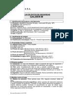 Galben M MSDS Revision 2017
