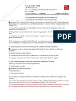 lista de exercícios_Comércio Exterior e Relações internacionais