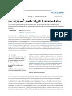 Garzón puso el cascabel al gato de América Latina