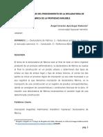ASPECTOS LEGALES DEL PROCEDIMIENTO DE LA DECLARATORIA DE FÁBRICA DE LA PROPIEDAD INMUEBLE - APESTEGUI