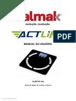 Balmak Manual do usuário - Actlife - SLIMTOP-180