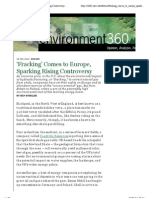20110228 - Fracking Comes to Europe Sparking Rising Controversy (Yale)