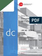 LNEC Lista de Documentos de Classificação
