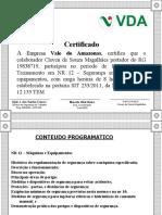 Certificado NR 12 VDA