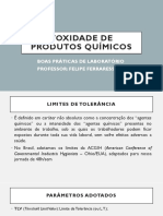 AULA 2 BPL - Toxidade de produtos químicos