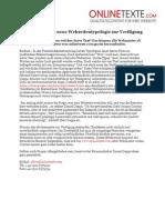 www.onlinetexte.com | Pressemeldung 2011-08 | Textservice stellt neue Webseitentypologie zur Verfügung
