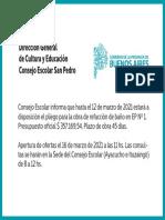 Consejo Escolar - Baños EP 1 - Marzo 2021
