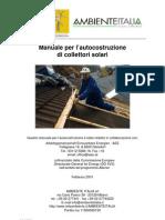 [Fai Da Te] - Manuale Autocostruzione Pannelli Solari