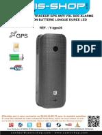 Mode d'emploi Traceur GPS Anti Vol SOS Alarme Micro Espion Batterie Longue Durée LED